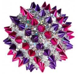 "Шар ""Шар с шипами фиолет-розовый"" 11011"