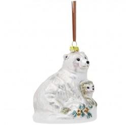 """Подвеска """"Полярный мишка с медвежонком"""" 11344"""