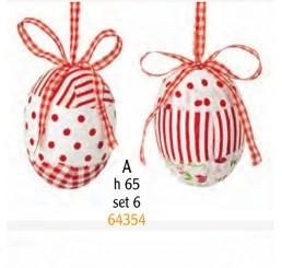 Набор пасхальных яиц  6шт.  64354