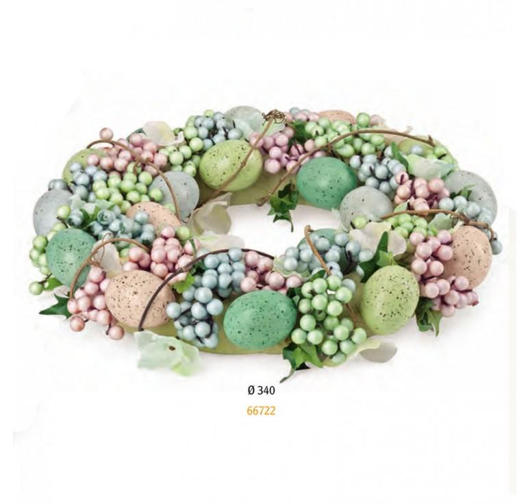 венок пасхальный с ягодами 66722