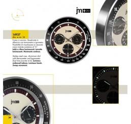 Часы настенные люминисцентные с термометром и гигрометром 14937