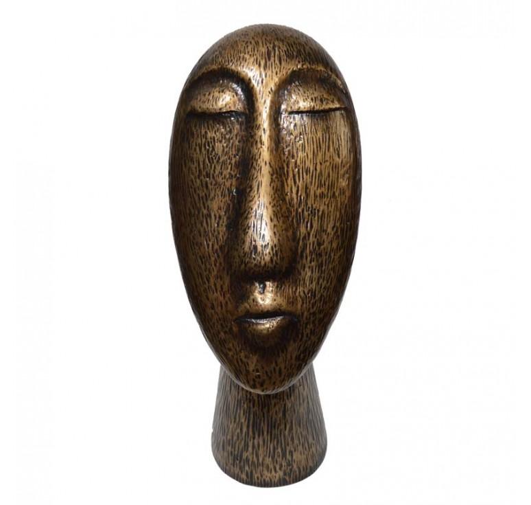 Скульптура Лицо А052 old bronze