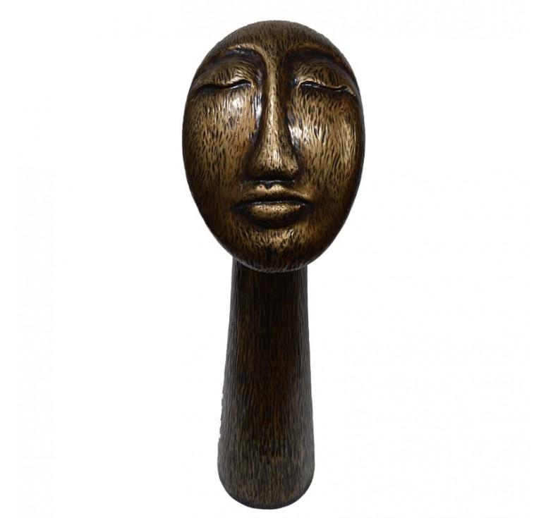 Скульптура Лицо А053 old bronze