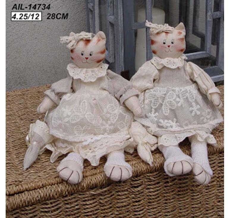 Кошка в платьице с зонтиком AIL-14734